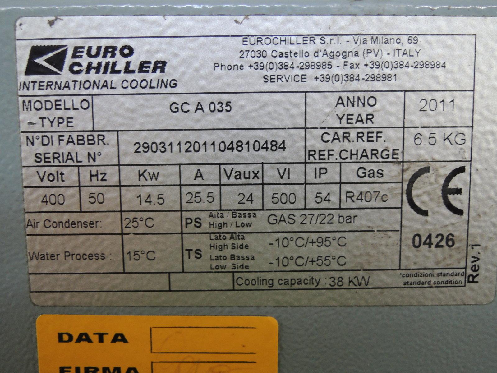 Euro Chiller Gc A 035 Ac 11