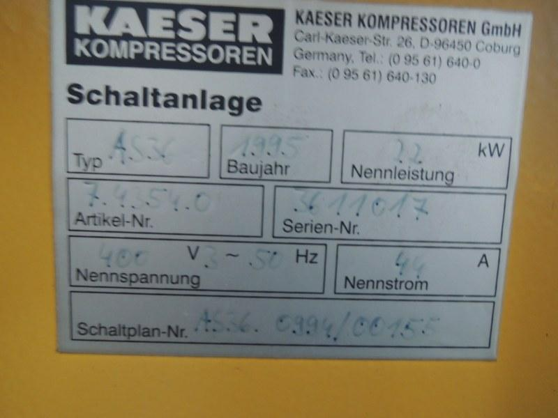 KAESER AS 36/ 7,5 bar Ac 4364 KA 000 95 - Used Plastics Machinery