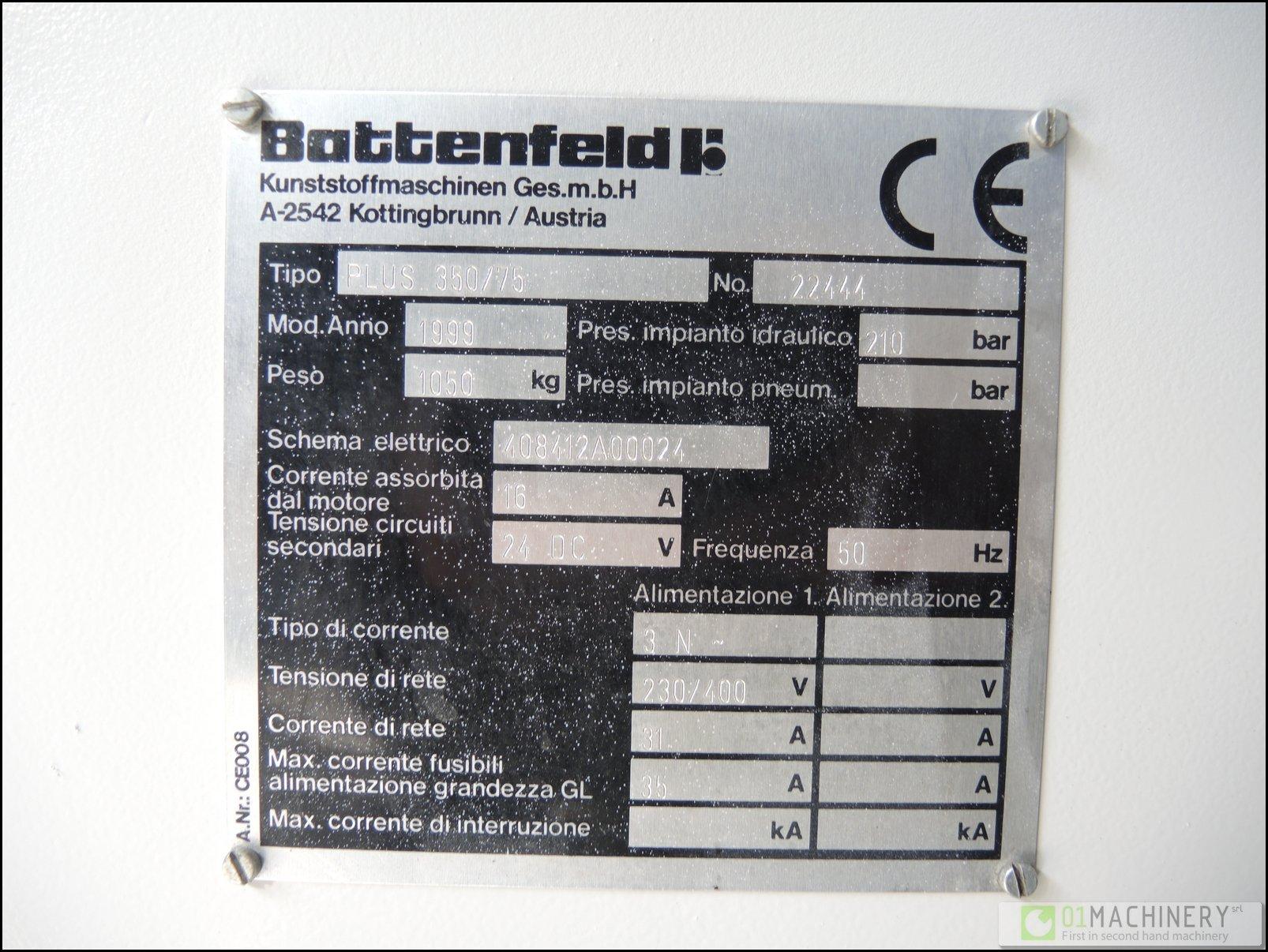Schema Elettrico Max 250 : Battenfeld 350 75 plus in ba 035 99 used 0 50 ton. machinery